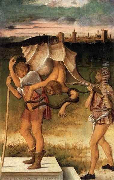 Four Allegories Prudence and Falsehood Oil Painting - Giovanni Bellini