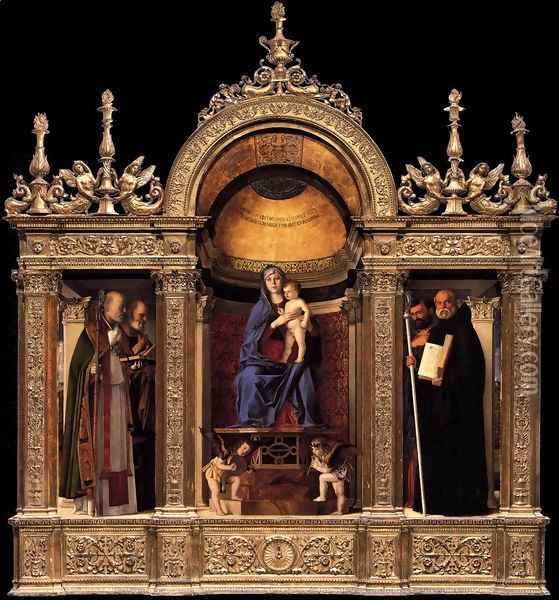 Frari Triptych Oil Painting - Giovanni Bellini