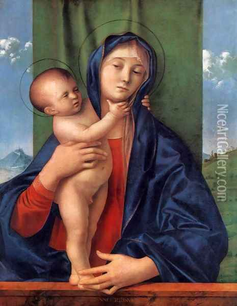 Madonna with the Child Oil Painting - Giovanni Bellini