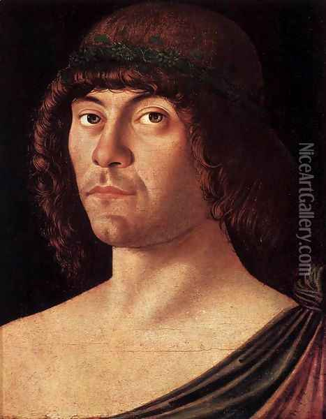 Portrait of a Humanist Oil Painting - Giovanni Bellini