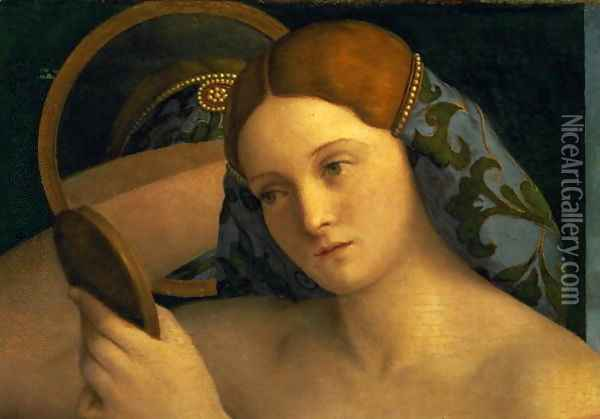 Young Woman at her Toilet 1515 Oil Painting - Giovanni Bellini