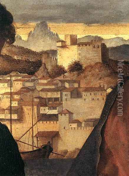 Madonna and Child with St John the Baptist and a Saint (detail) 3 Oil Painting - Giovanni Bellini
