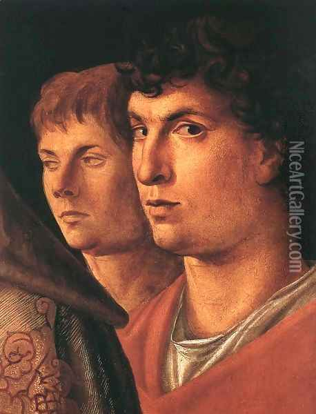 Presentation at the Temple (detail) Oil Painting - Giovanni Bellini