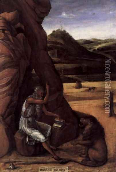 St Jerome in the Desert Oil Painting - Giovanni Bellini