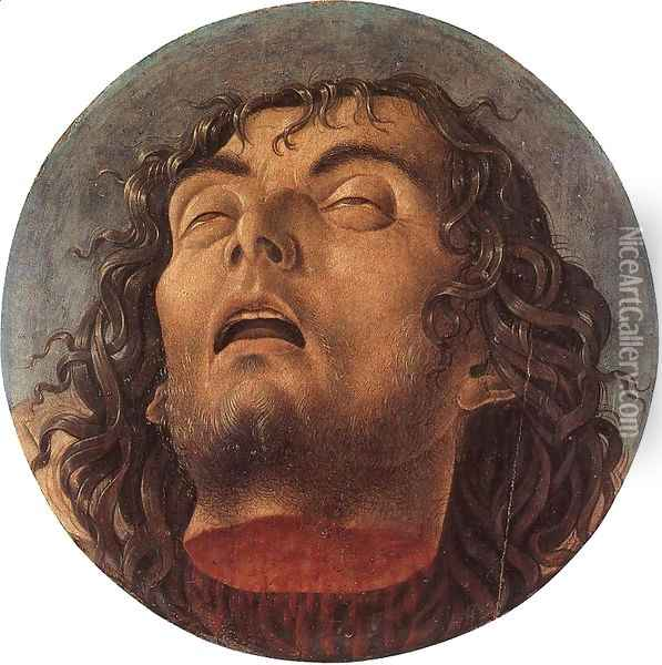 Head of the Baptist Oil Painting - Giovanni Bellini