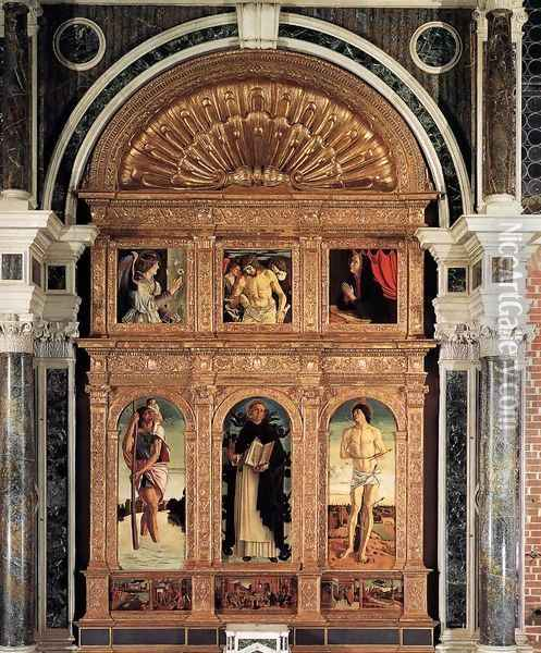 Polyptych of San Vincenzo Ferreri Oil Painting - Giovanni Bellini