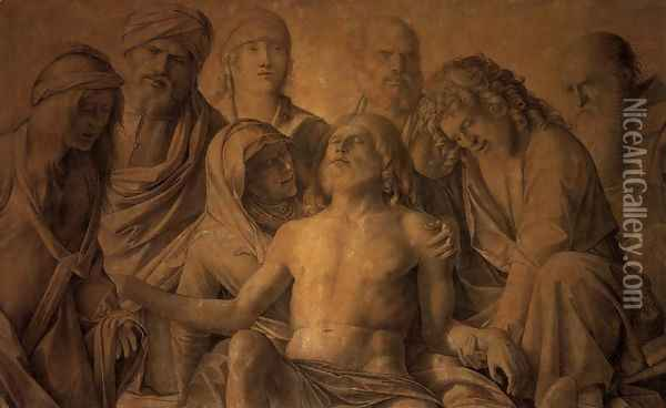 The Lamentation over the Body of Christ Oil Painting - Giovanni Bellini