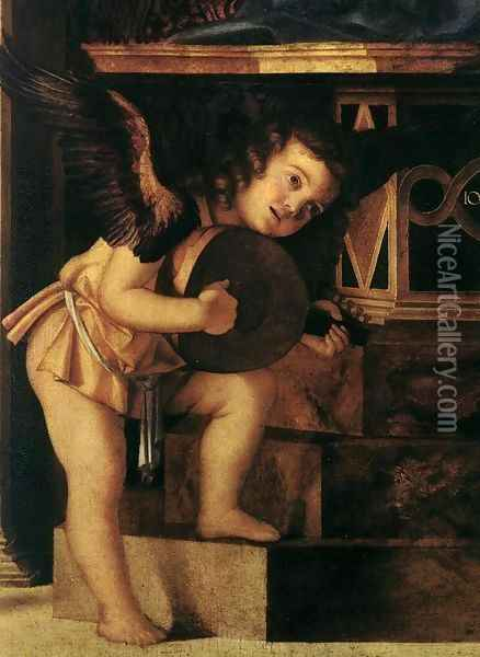 Frari Triptych (detail) 8 Oil Painting - Giovanni Bellini