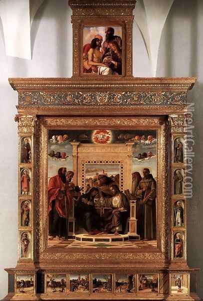 Pesaro Altarpiece 2 Oil Painting - Giovanni Bellini