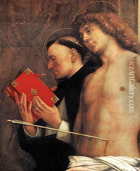 San Giobbe Altarpiece (detail) 4 Oil Painting - Giovanni Bellini