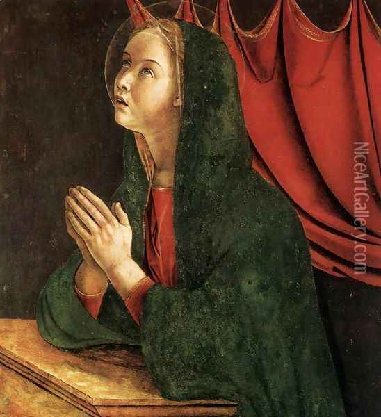 Polyptych of San Vincenzo Ferreri (detail) 7 Oil Painting - Giovanni Bellini