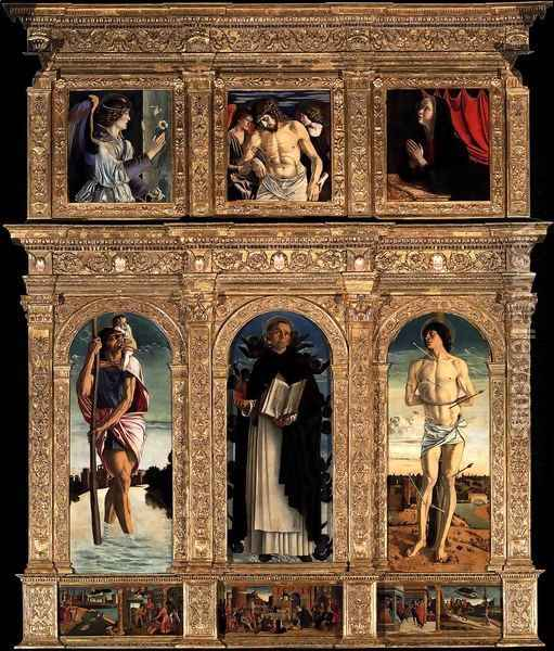 Polyptych of San Vincenzo Ferreri 2 Oil Painting - Giovanni Bellini