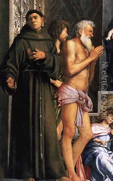 San Giobbe Altarpiece (detail) 3 Oil Painting - Giovanni Bellini