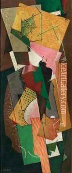Composition Oil Painting - Georges Valmier
