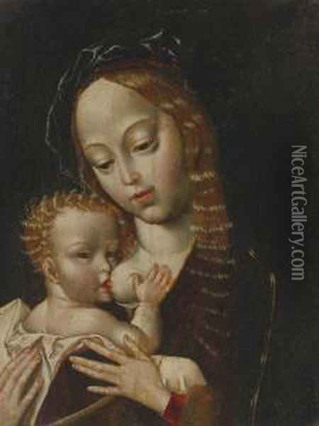 Madonna And Child Oil Painting - Joos Van Cleve