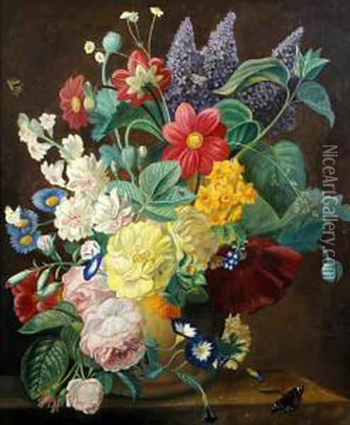 A Flowerpiece Oil Painting - Jan van Os