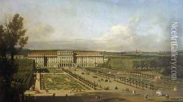 Schonbrunn Palace and gardens, 1759-61 Oil Painting - Bernardo Bellotto