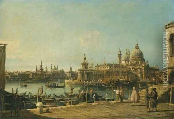 Venice, a View of the Entrance to the Grand Canal with the Church of Santa Maria della Salute Oil Painting - Bernardo Bellotto