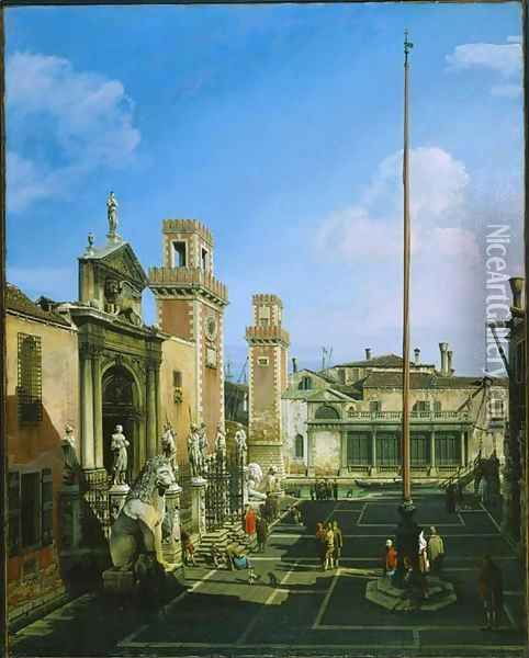 The Arsenal, Venice Oil Painting - Bernardo Bellotto
