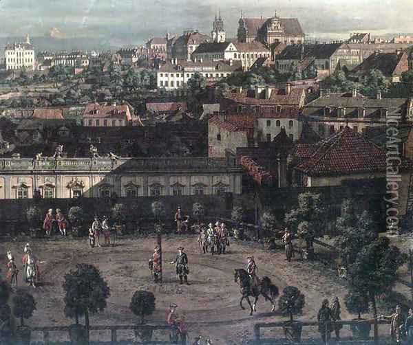 View of Warsaw from the Royal Palace (detail) Oil Painting - Bernardo Bellotto