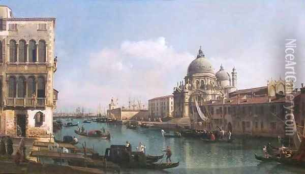 View of the Grand Canal and the Dogana Oil Painting - Bernardo Bellotto