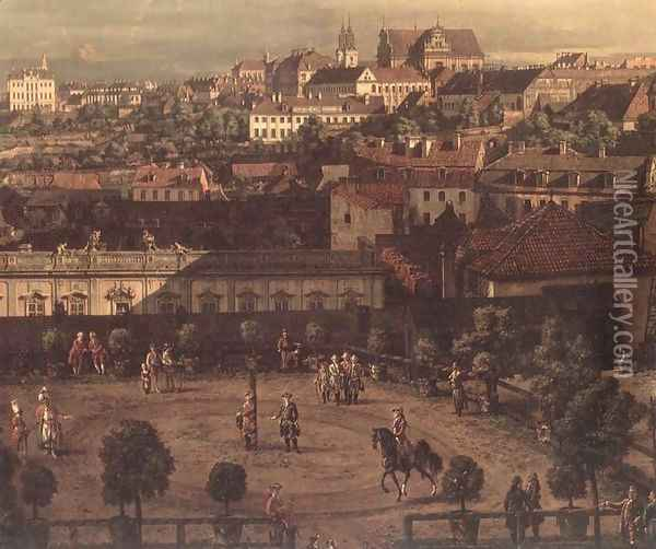 View of Warsaw from the Royal Palace (detail) 2 Oil Painting - Bernardo Bellotto