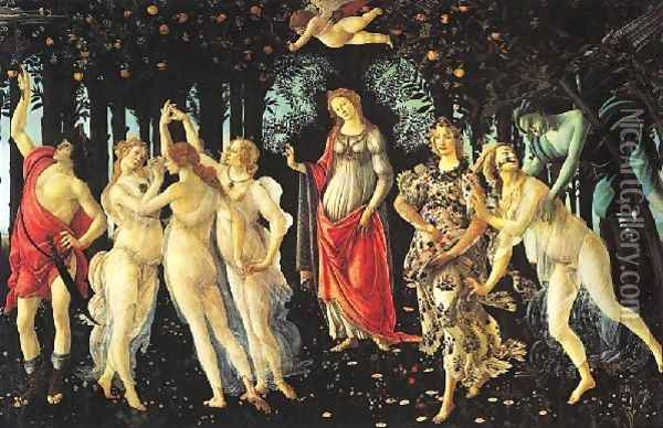 Allegory Of Spring La Primavera Oil Painting - Sandro Botticelli