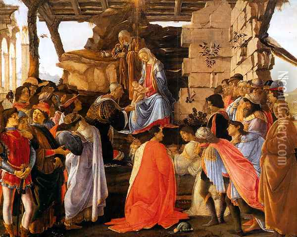 Adoration of the Magi (Adorazione dei Magi) Oil Painting - Sandro Botticelli