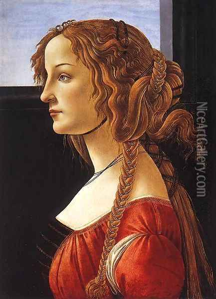 Portrait of a Young Woman, after 1480 Oil Painting - Sandro Botticelli