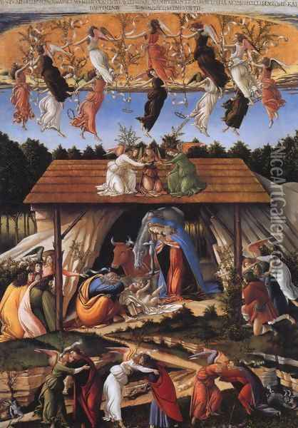 Mystic Nativity Oil Painting - Sandro Botticelli