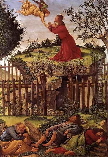 Agony in the Garden c. 1500 Oil Painting - Sandro Botticelli