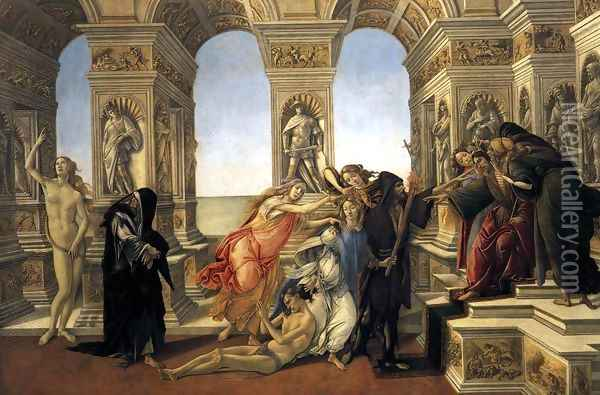 Calumny of Apelles 1494-95 Oil Painting - Sandro Botticelli