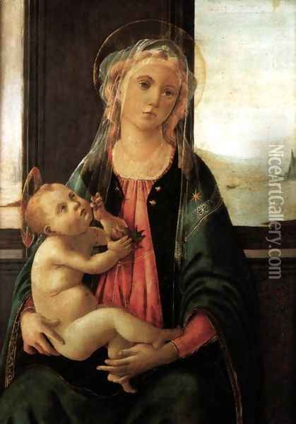 Madonna of the Sea c. 1477 Oil Painting - Sandro Botticelli