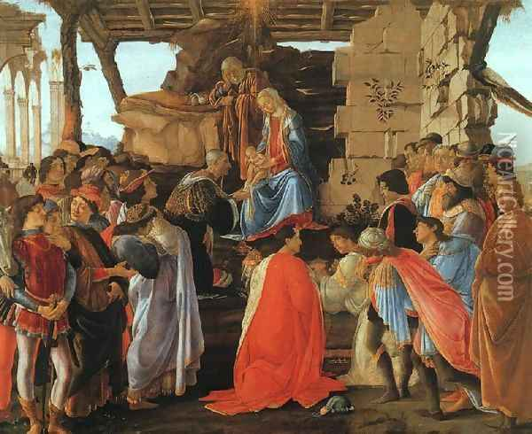 The Adoration of the Magi Oil Painting - Sandro Botticelli