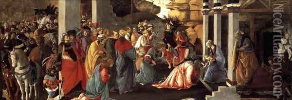 Adoration of the Magi 1465-67 Oil Painting - Sandro Botticelli