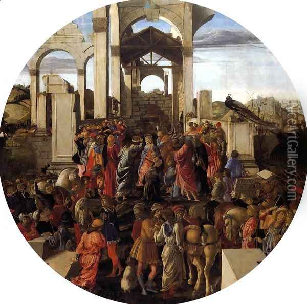 Adoration of the Magi 1470-75 Oil Painting - Sandro Botticelli