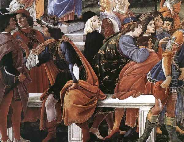 Three Temptations of Christ (detail 2) 1481-82 Oil Painting - Sandro Botticelli