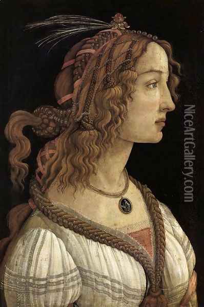 Portrait of a Young Woman 1480-85 Oil Painting - Sandro Botticelli