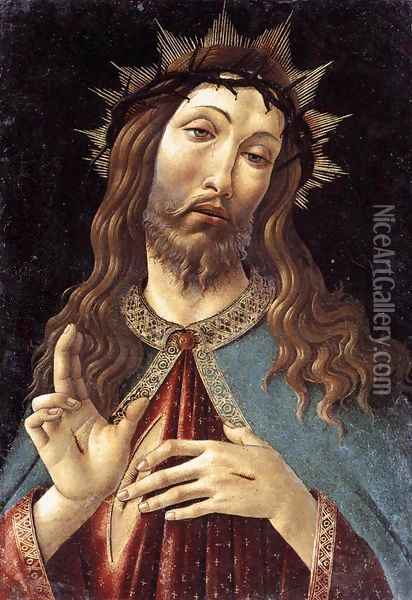 Christ Crowned with Thorns c. 1500 Oil Painting - Sandro Botticelli