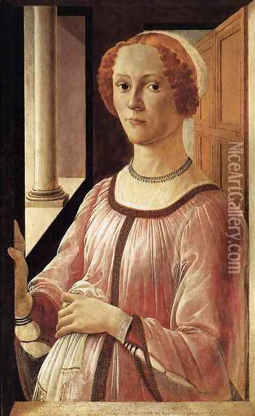 Portrait of a Lady 1470-75 Oil Painting - Sandro Botticelli