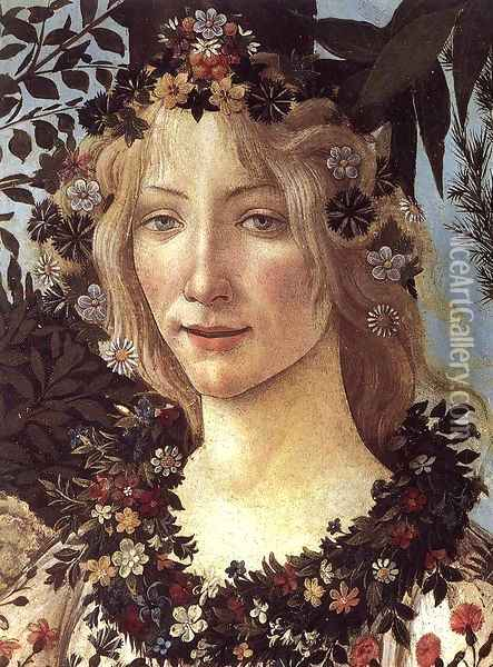Primavera (detail 3) c. 1482 Oil Painting - Sandro Botticelli