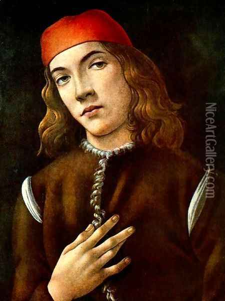Portrait of a Young Man 1482-83 Oil Painting - Sandro Botticelli