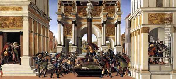 The Story of Lucretia 1496-1504 Oil Painting - Sandro Botticelli
