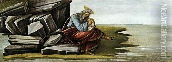St John on Patmos 1490-92 Oil Painting - Sandro Botticelli