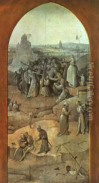 Christ Carrying the Cross (outer-right wing of the triptych