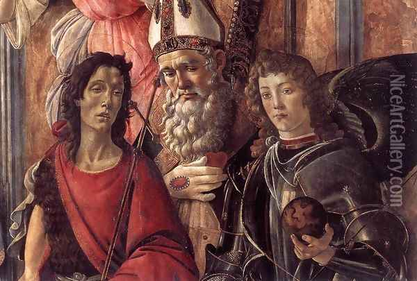 San Barnaba Altarpiece (detail 1) c. 1488 Oil Painting - Sandro Botticelli