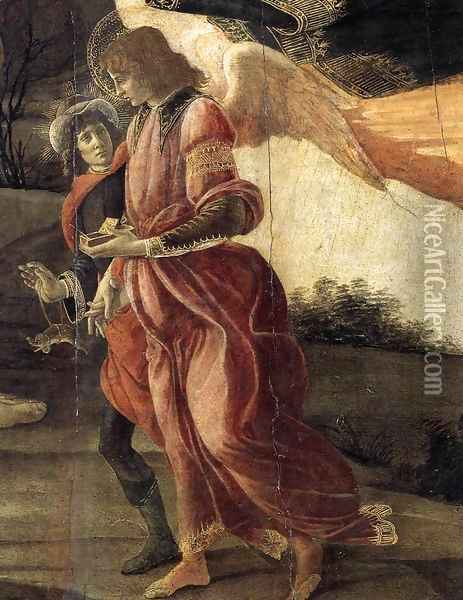 Holy Trinity (detail) 1491-93 Oil Painting - Sandro Botticelli