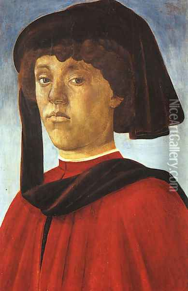 Portrait of a Young Man c. 1469 Oil Painting - Sandro Botticelli