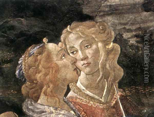 Three Temptations of Christ (detail 7) 1481-82 Oil Painting - Sandro Botticelli