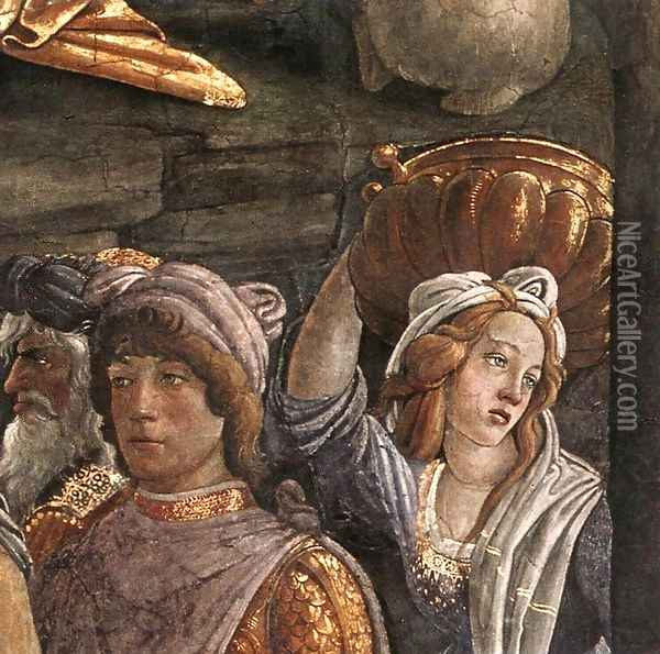 The Trials and Calling of Moses (detail 5) 1481-82 Oil Painting - Sandro Botticelli